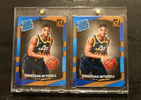 Donovan Mitchell (Lot of 2) 2017-18 Donruss Rated Rookie RC