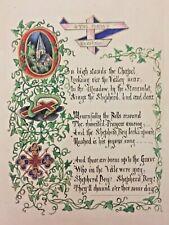 19th C Illuminated Manuscript Book Handwritten Calligraphy Poetry Music Painting
