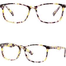 Square Women's Frames Light Prescription Glasses Eyeglasses RX Sunglasses Yellow