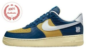 Undefeated Nike Air Force 1 Low SP 5 On It DM8462-400 Blue Yellow Croc dunk