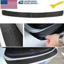 4D Premium Black Accessory Carbon Fiber Car Rear Guard Bumper Sticker Protector