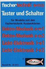 Prospekt Fischertechnik e-m3 Taster Schalter 5/70 1970 Spielzeug Broschüre toys