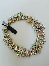 NWT J.Crew Iridescent Crystal Cluster Statement Necklace Crystal ab $128 F4890