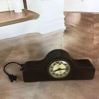 vintage telechron humpback mantle clock  model 3h07 working