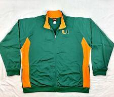 University of Miami Hurricanes Fleece Jacket, Size XXL, Full Zip, Green