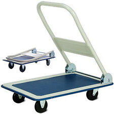 150KG Folding Platform Hand Truck Trolley Warehouse Transport Flat Bed F008