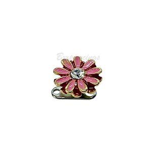14G G23 Titanium Base Pink Flower Steel Dermal Anchor Top Piercing Jewelry