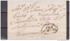 O) 1800 EL SALVADOR, SAN MIGUEL TO GUATEMALA COLONIAL WITH AN EXTRAORDINARY MARK