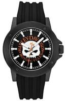 Harley-Davidson Men's Bulova Willie G. Skull Black Wrist Watch 78A115