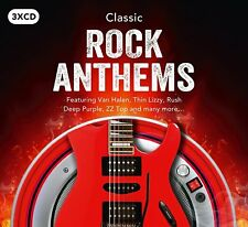 CLASSIC ROCK ANTHEM HITS ~ NEW 3CD FREE,RUSH,VAN HALEN,GARY MOORE,DIO + MORE