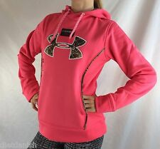 Under Armour Women's Fleece Sweater Hoodie Pink Camo Size XL