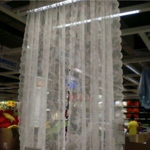 Sheer Embroidery Curtain Pelmets Net Lace Voile Floral Window Panel Drape Wave Y
