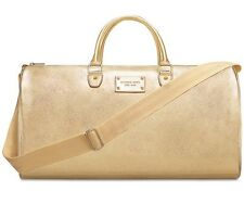 MICHAEL KORS gold Weekender / Duffle / Travel / Tote Bag NEW must see.