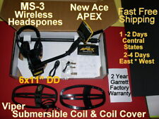 New Garrett Ace Apex Metal Detector & Ms-3 Headphone In Stock Fast Free Shipping