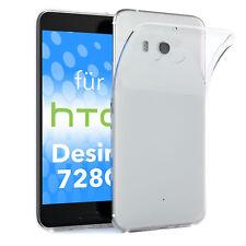 Schutz hülle für HTC Desire 728g dual SIM Case Silikon Handy Cover transparent