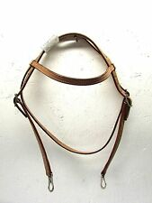 2X Cowboy Brand Light Oil Leather Brow Band Headstall w/Snap Ends equine 42-1062
