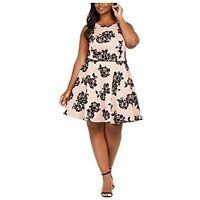 City Studio Women's 14w Plus Size Velvet Floral Cocktail Dress, Pink, $79, NwT