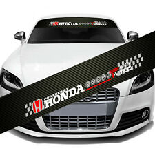 "HONDA Logo Car Window Windshield Carbon Fiber Vinyl Banner Decal Sticker 51"" DIY"