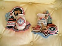 Home Interiors Southwestern Plaques #3374-2A & 2B (LOT OF 2)  Vintage