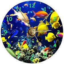 Cd a Table Clock-New Tropical Fish,Ocean,Sea