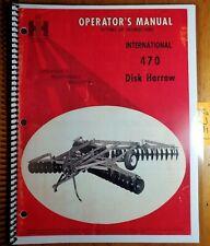 Ih International Harvester 470 Disk Harrow Owner Operator Manual Amp Setting Up 70
