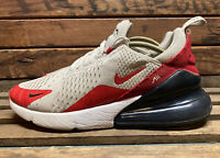 Nike Air Max 270 White University Red Mens Sz 8 Eu 41 CJ0550 100
