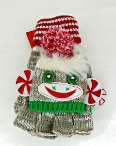 Sock Monkey Gloves Mittens from Bed Bath & Beyond Kids or Small Adult