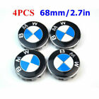 4PCS 68mm Wheel Center Hub Caps Logo Badge Emble for BMW 1-3-5-7 Series X1X3X5X6