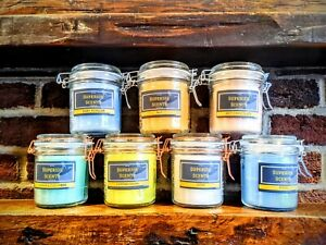 Strong Fragrance - Highly Scented Hand Crafted, Glass Jar Candles