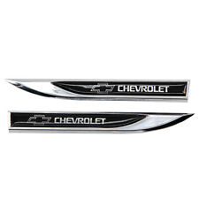 2pcs Replacement Black Blade Fender Badge Emblems Sticker for CHEVROLET