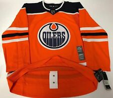 EDMONTON OILERS size 60 = size 3XL  ADIDAS NHL HOCKEY JERSEY Climalite Authentic