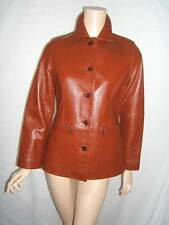 ISABELLA BIRD Womens 4 6 SEXY SUPPLE LUXURY LEATHER Brown Designer Jacket