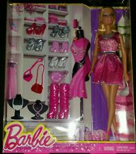 Barbie Doll With Clothes, Accessories, Purse, Shoes, Necklace, Mattel NIB