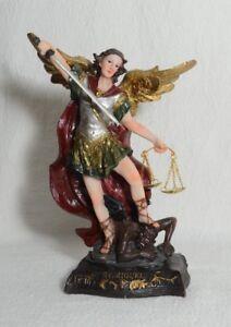 "8"" San Miguel Arcangel Archangel Michael Angel Statue, Statua-Figurine"