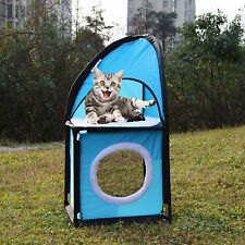 Cat Condo Play Tower Tree Furniture Collapsible Toy Post Pet Kitten House Tent