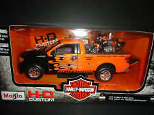 Maisto Ford F150 STX Harley Davidson w/ XL1200N Nighster black and Orange 1/27