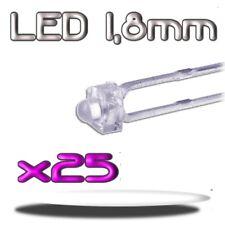 350/25# LED blanche 1,8mm 25pcs --- 5800mcd