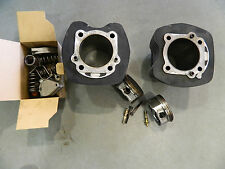 """2010 HARLEY 96"""" TWIN CAM CYLINDER & PISTON KIT BLACK OR SILVER FINISH ENGINE FLH"""