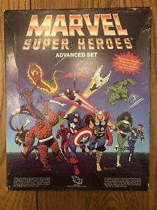 RARE W/ORIGINAL TSR DICE & CRAYON! MARVEL SUPER HEROES ADVANCED SET 1986 #6871