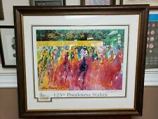 LeRoy Neiman 125th Preakness Stakes Open Hand Signed Lithograph Matted & Framed