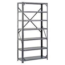 Heavy Duty Metal Rack, 7-Shelf Steel Shelving Unit, Garage Storage Organizer