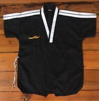 "Tiger Claw Martial Arts Black Cotton Polyester Blend Karate Shirt Sz 0 38"" Chest"