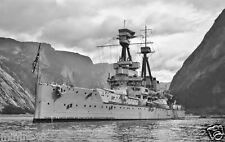 ROYAL NAVY BELLEROPHON CLASS BATTLESHIP HMS TEMERAIRE - WWI - BATTLE OF JUTLAND