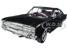 1966 DODGE CHARGER BLACK 1:18 DIECAST MODEL CAR BY ROAD SIGNATURE 92638