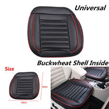 Black Leather Car Seat Cover w/ Buckwheat Shell Inside Good For Health 3D Design