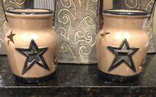 Two 4� Ceramic Candle Holders - New