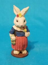 Russ Berrie Easter Bunny Lady In Blue top and Red Skirt Old World Heritage16812