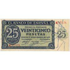 ESPAÑA SPAIN 25 PESETAS - BURGOS 1936 - Serie M377174 EBC XF