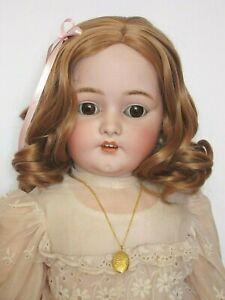 """perruque blond vénitien Jumeau®T34/36cm poupée ancienne/moderne-Wig head sz14"""""""