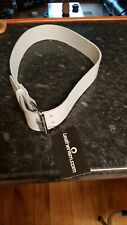 MENS/Ladies LEATHER BELT Double Hole (100% GENUINE)  White New